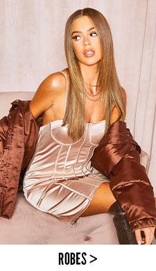 c14c6089191a2 Mini robe en dentelle à mancherons et col montant